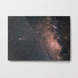 Halley's Comet and the Milky Way Metal Print