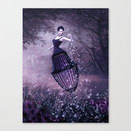 Black magic fairy Canvas Print