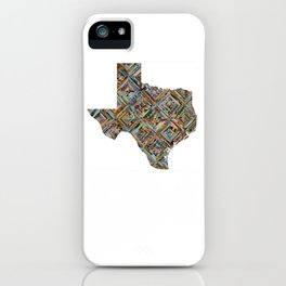 Map of Texas iPhone Case