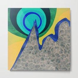 - mountain atomic bomb - Metal Print