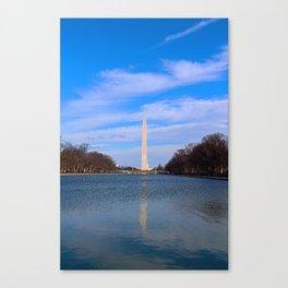 The Washington Monumet On Christmas Day 2017 Canvas Print
