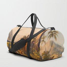 Pure Piapa Illustrations Of Guyana South America Natural Scenes Hand Drawn Duffle Bag