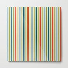 Colored stripes (C) Metal Print
