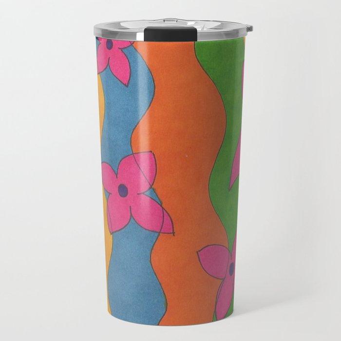 Retro: Flower Power Travel Mug