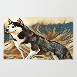 The Siberian Husky Rug