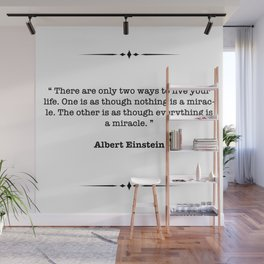 Albert Einstein Quote Wall Mural