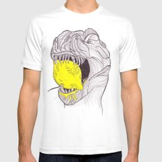 Zest For Life T-Rex Dino White X-LARGE Mens Fitted Tee