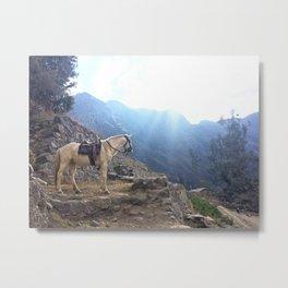 Mountain Horseback Ride Metal Print