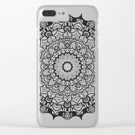 Spooky Lacey Clear iPhone Case