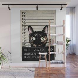 Kitty Mugshot Wall Mural