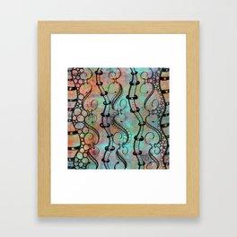 tangle ribbons color Framed Art Print