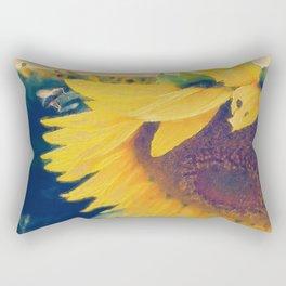 sunflower and little bee Rectangular Pillow