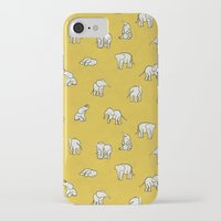 baby iPhone & iPod Cases featuring indian baby elephants by Estelle F
