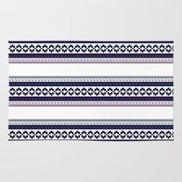Hipster fairisle modern pixel art fair isle pattern geometric print Rug