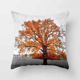 A Tree in Autumn Throw Pillow