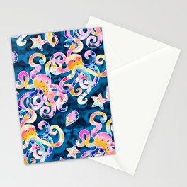 Tie-Dye Octopi Stationery Cards