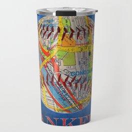 Yankees poster with map of stadium Travel Mug