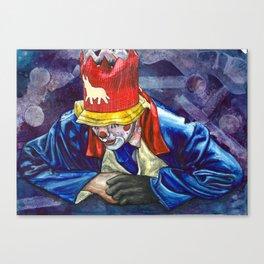 Thinking Clown Canvas Print