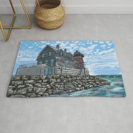 Breakwater Lighthouse Rug