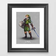 The Legend of Zelda: Link Framed Art Print