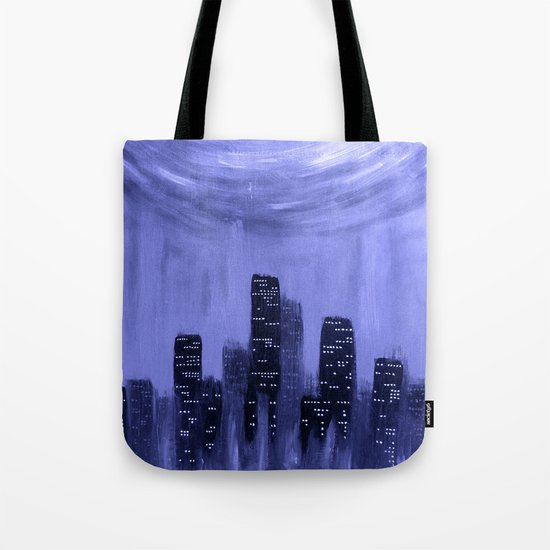 City of Fire ~ Blue  Tote Bag
