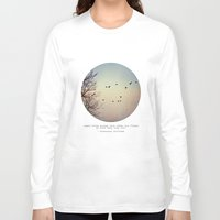 birds Long Sleeve T-shirts featuring Caged Birds by Tina Crespo