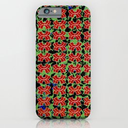 geometric shapes colored iPhone Case