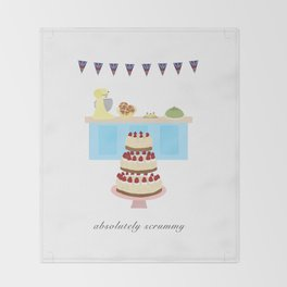 Absolutely Scrummy : Great British baking Throw Blanket
