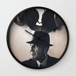 Leonard Cohen hats Wall Clock