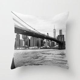 Brooklyn Bridge III Throw Pillow