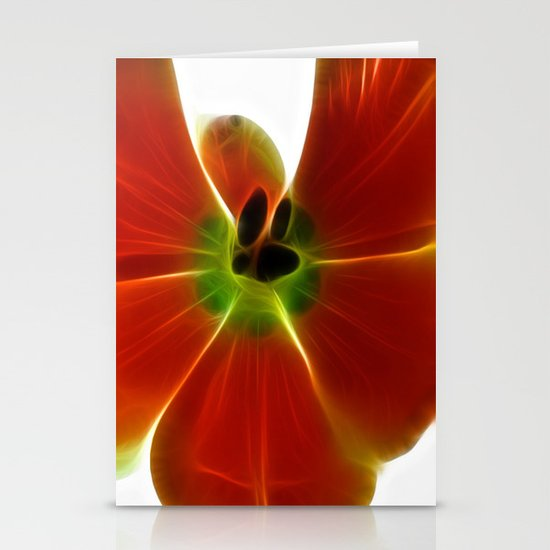Fractal Tulip Stationery Cards