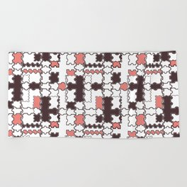 Geometric, abstract pattern 2 Beach Towel
