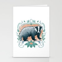 badger Stationery Cards featuring Badger by Monkah