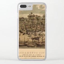 Sacramento 1850 Clear iPhone Case