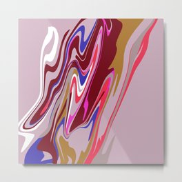 Pink Blob Metal Print