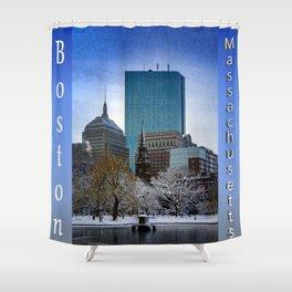 Winter in Boston Shower Curtain