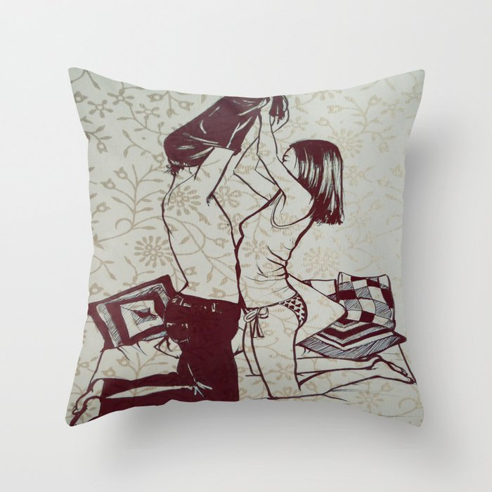 #hatetolove Throw Pillow