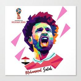 Mohammad Salah In Pop  Art Canvas Print