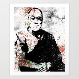 Dalai Lama-Watercolor Art Print