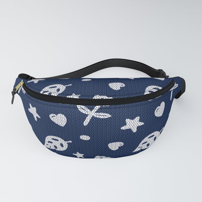 Dots & Doodles in Navy Fanny Pack