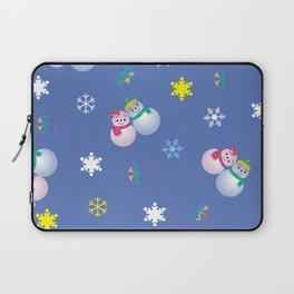 Snowflakes & Pair Snowman_C Laptop Sleeve