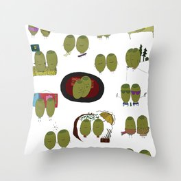 Olive Love Throw Pillow