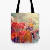 takmaj Tote Bags featuring Allium by takmaj