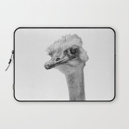 Whats up? - (the ever inquisitive Ostrich) Laptop Sleeve