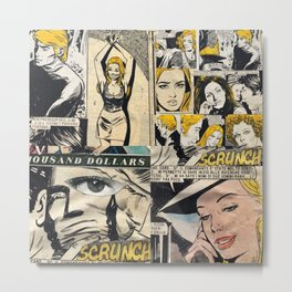 Italian Comics Vintage Pop art Collage Metal Print