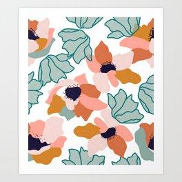 Carmella #illustration #pattern Art Print
