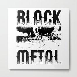Black Metal Heavy Metal War BM Metal Print
