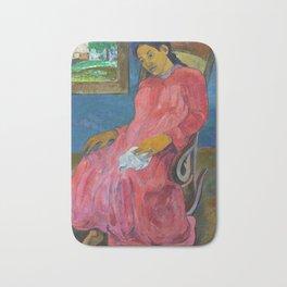 Faaturuma (Melancholic) by Paul Gauguin Bath Mat