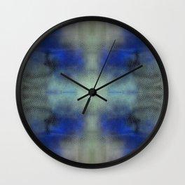 Violet Yellow Invert Mirrored Wall Clock