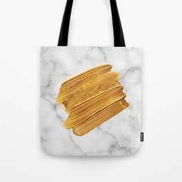 Gold on Marble Tote Bag